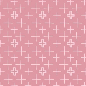 Swiss Crosses Blush Pink