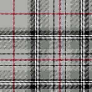 "Glen Moy tartan, double crimson stripe, 8"""