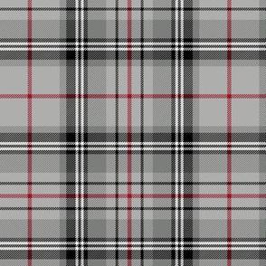 "Glen Moy tartan, double crimson stripe, 6"""