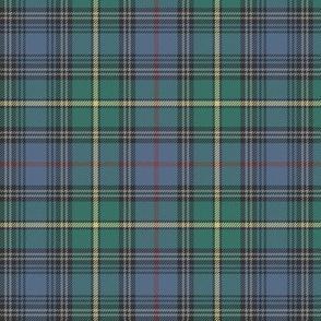 "MacLeod of Skye tartan, 6"" muted with grey stripes"