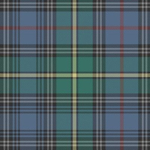 "MacLeod of Skye tartan, 10"" muted with grey stripes"