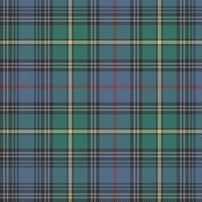 "MacLeod of Skye tartan, 7"" muted with grey stripes"