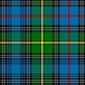 "MacLeod of Skye tartan, 10"" bright with grey stripes"