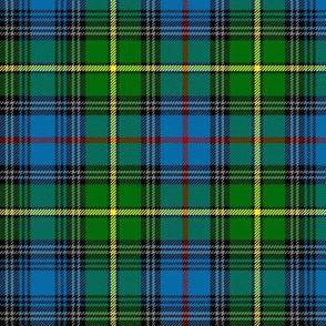 "MacLeod of Skye tartan, 7"" bright with grey stripes"