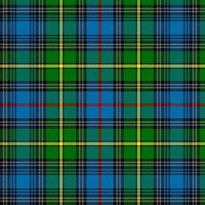 "MacLeod of Skye tartan, 6"" bright with grey stripes"