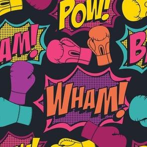 Kickboxing Pop Art Full Size (Color)