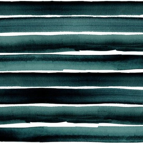 ocean watercolor stripe-deep blue green