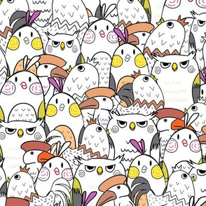 Colorful Quirky Birds  Design