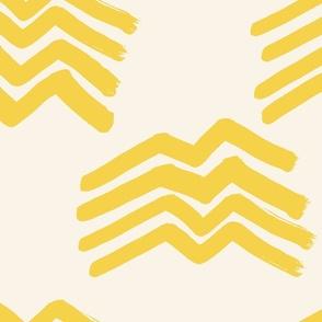 Boho mountains yellow