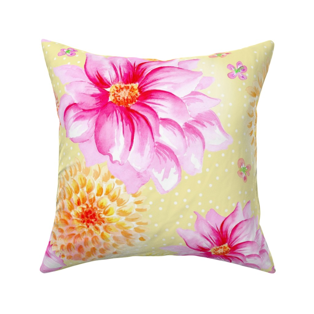 Catalan Throw Pillow featuring Lila buttercup by lilyoake