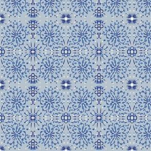 Indigo Floral Light blue