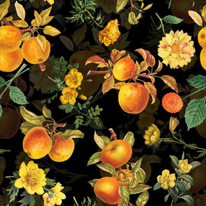 "14"" Moody Florals by UtART - Mystic Night Appel Tree"