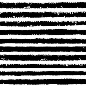 abstract grungy stripes - medium scale black