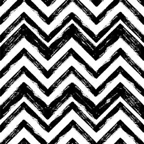 abstract grungy chevron stripes - large scale black