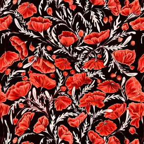Poppies - Coral