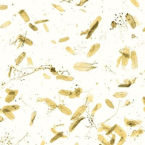 faux mulberry paper -  golden leaves