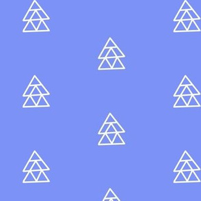 Floating Triangles Blue Purple