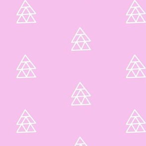 Floating Triangles Pink