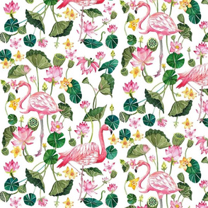 Tropical Pink Flamingos
