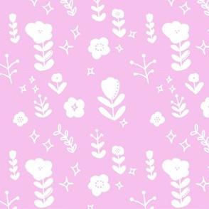 Scandinavian Shadow Flowers Pink