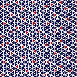 Triangle mosaic - navy, red, white