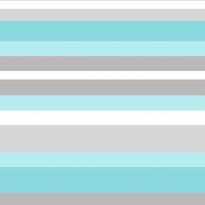 Aqua Blue Gray Grey Stripes Lines