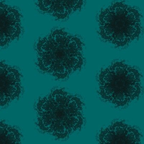 Wall Flower in Black and Teal
