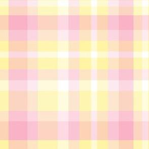 Pink Yellow Plaid Tartan Checked