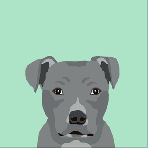 """18"""" Pitbull Grey Dog Pillow with cut lines - dog pillow panel, dog pillow, pillow cut and sew -"""