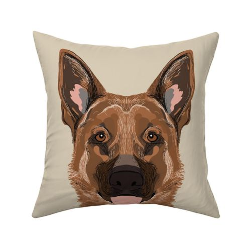 18 German Shepherd Dog Pillow With Cut