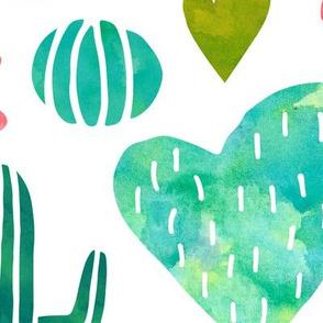 Jumbo Cacti in watercolor