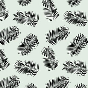 Palm leave summer jungle sweet surf theme tropical garden print pink monochrome black and white SMALL