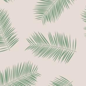 Palm leave summer jungle sweet surf theme tropical garden print green beige