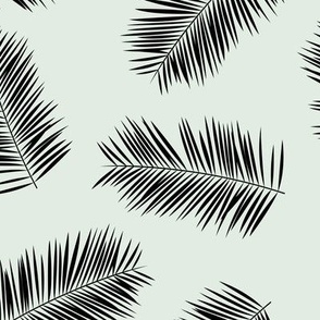 Palm leave summer jungle sweet surf theme tropical garden print pink monochrome black and white