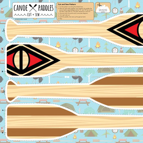 Canoe Paddles Cut and Sew Plushie Pillow Project
