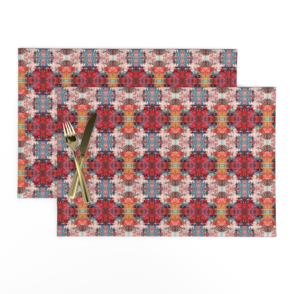 Lamona Cloth Placemats featuring LWD Red Mountain Pink Sky by loriwierdesigns