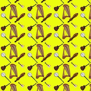 Folk Insturments in Yellow: DulciArt.LLC