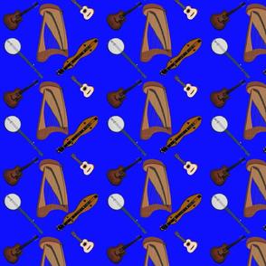 Folk Instruments in Blue