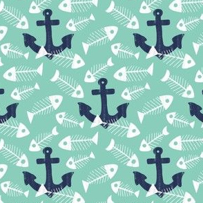 Fish Bones and Navy Anchors by Angel Gerardo