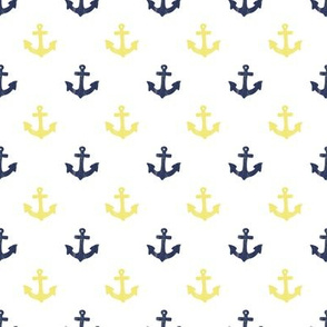Mustard and Navy Anchors by Angel Gerardo