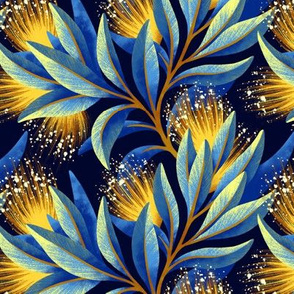 Pohutukawa - Yellow / Blue - AAM19