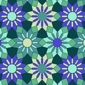 Arabesque Floral Geometyric Mosaic