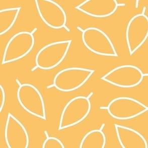 Golden Saffron Yellow Leaves