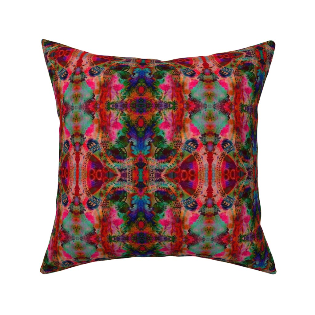 Catalan Throw Pillow featuring LWD Underwater City After the Fire by loriwierdesigns