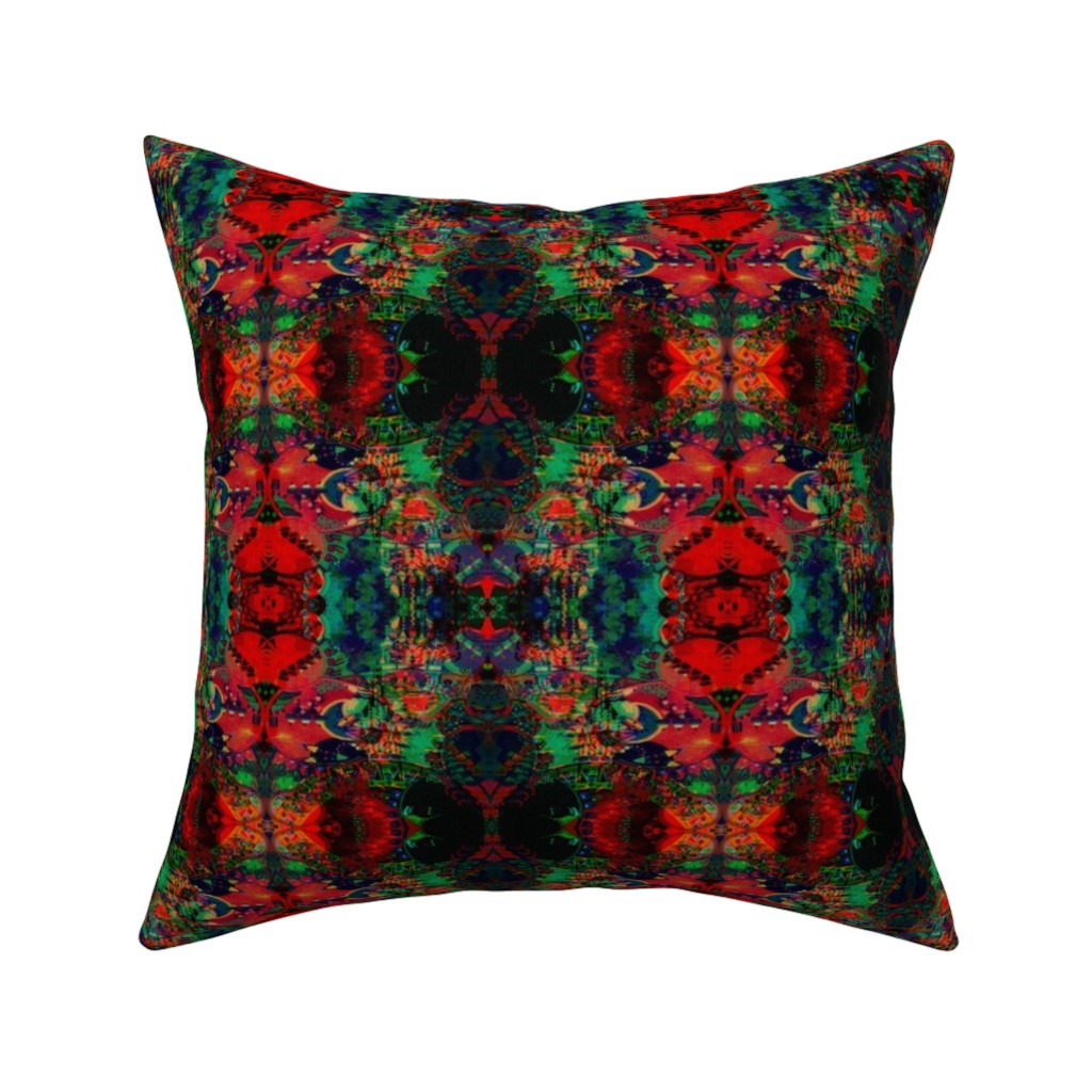 Catalan Throw Pillow featuring LWD Underwater City on Fire by loriwierdesigns