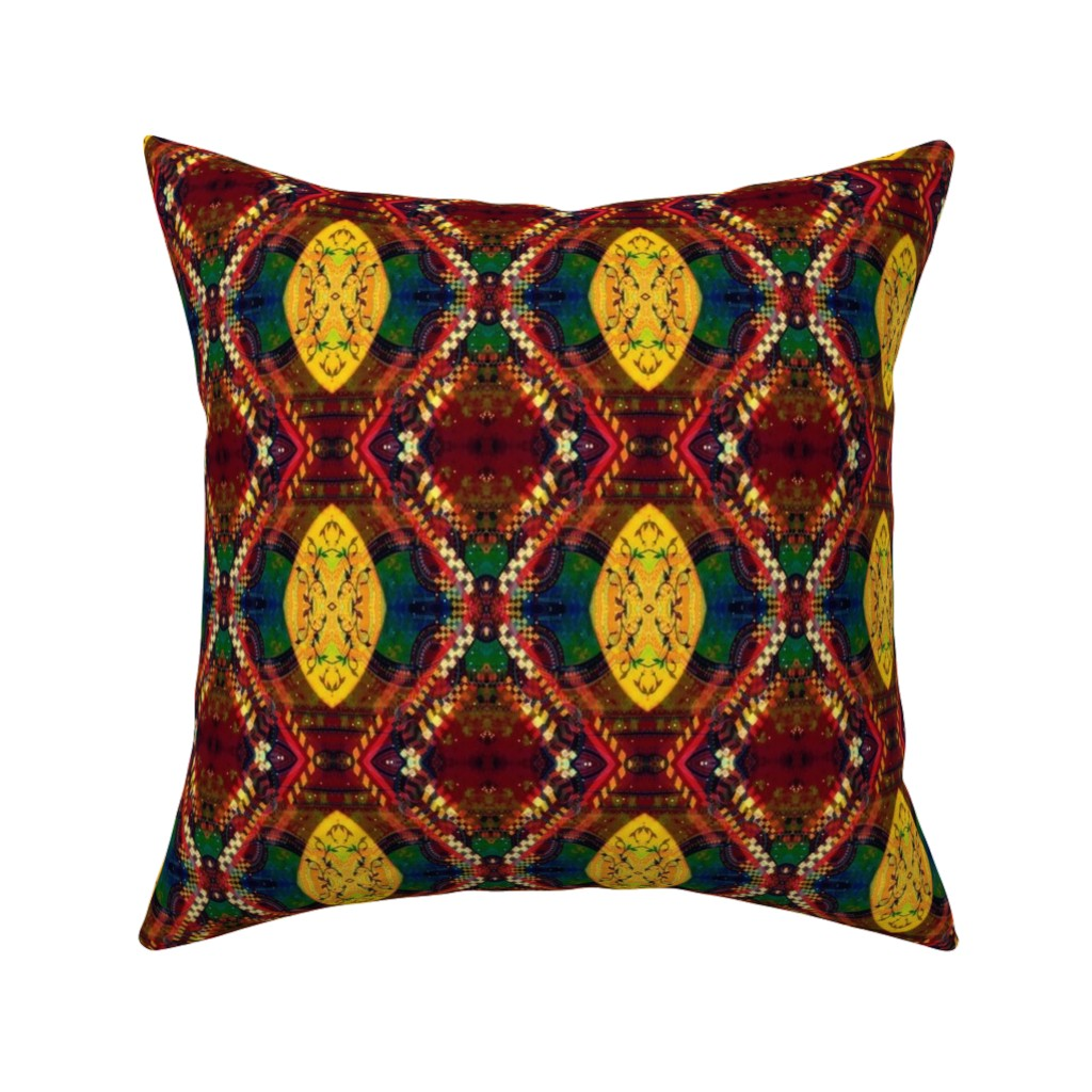 Catalan Throw Pillow featuring LWD Yellow Shield With a Vine by loriwierdesigns
