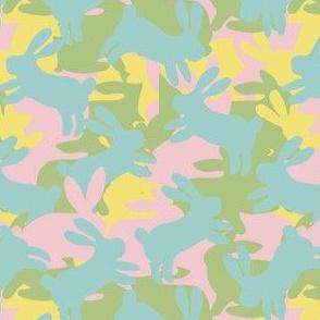 rabbit silhouette  camouflage