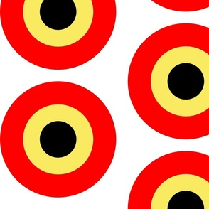 Large red yellow targets
