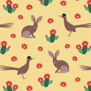 Desert Rabbits and Roadrunners