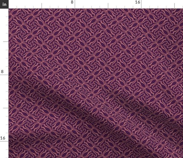 Colorful fabrics digitally printed by Spoonflower - Victorian Parlor-  Eclectic purple